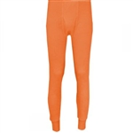 Men's orange thermal bottoms