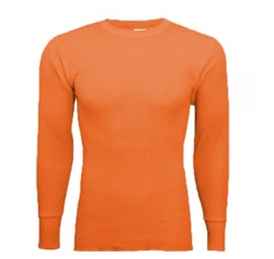 Men's orange  thermal tops