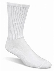 White Crew Socks