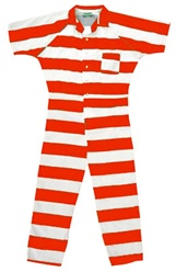 Inmate One Pieces Striped Jumpsuits